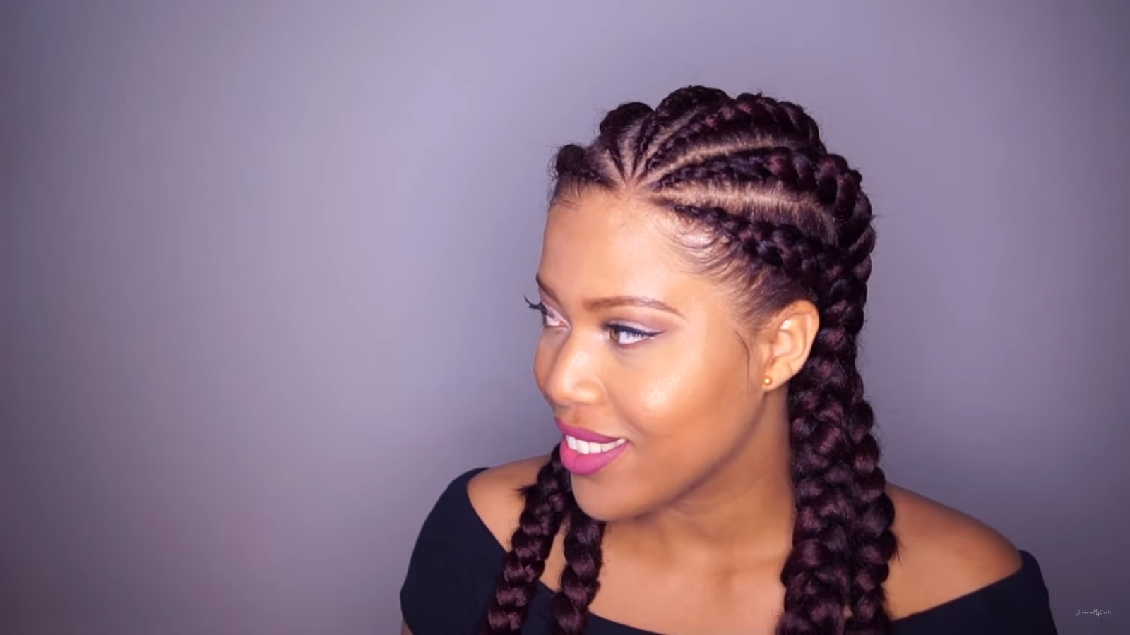 брейды девушка афрокосички